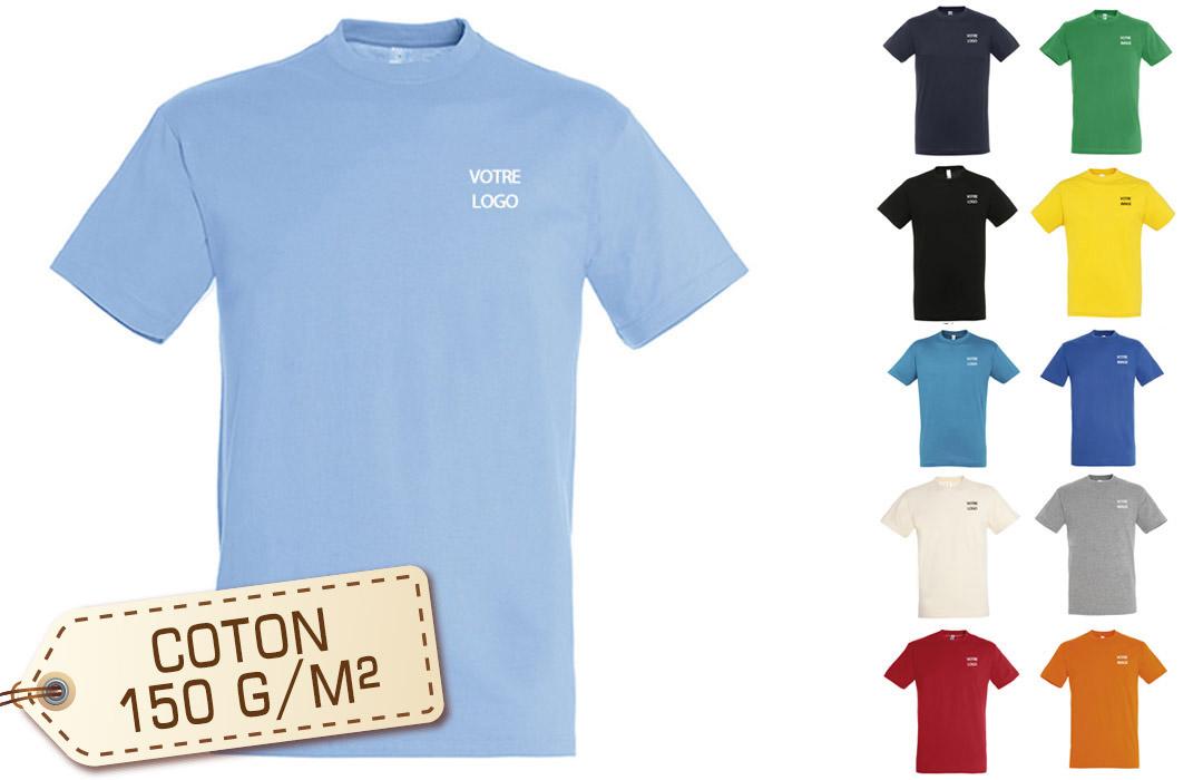 Tee shirt publicitaire personnalisé homme