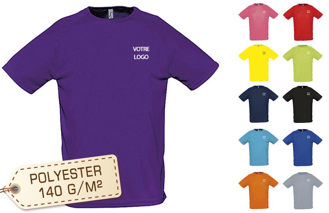 Tee shirt sport respirant publicitaire personnalisé homme