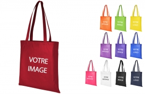 Sac shopping personnalisable anse de 29cm