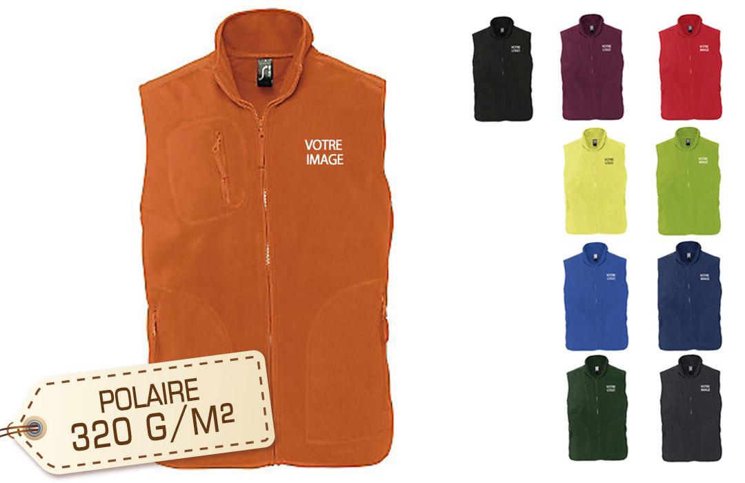 vest sans manche pour imprimé logo