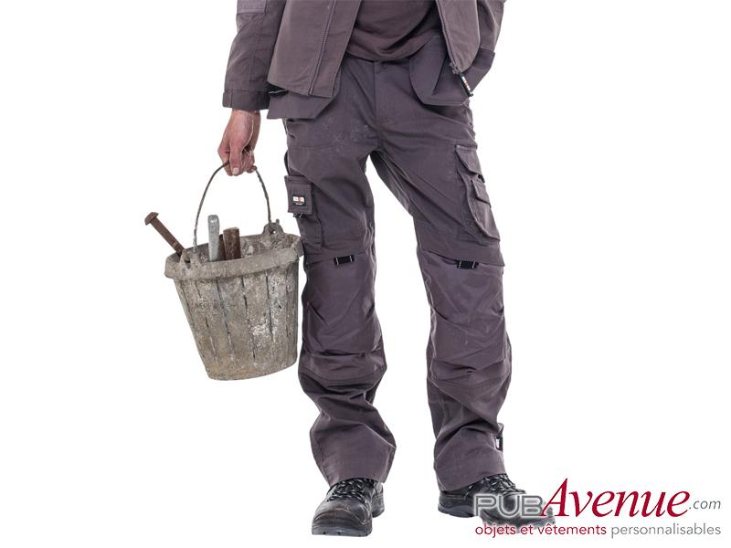 Pantalon travail multi-poches publicitaire