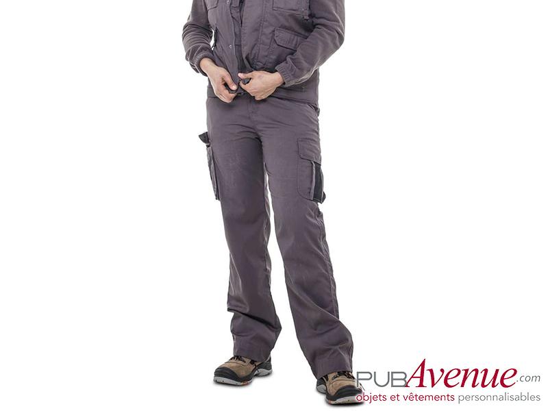 Pantalon travail professionnel personnalisable femme