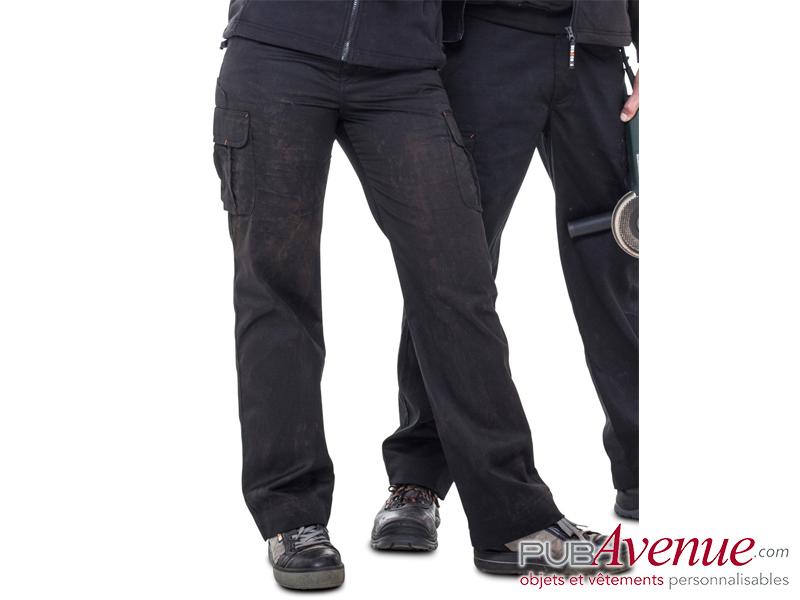 Pantalon travail professionnel publicitaire femme