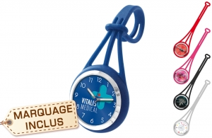 Montre personnalisable multi support avec attache silicone
