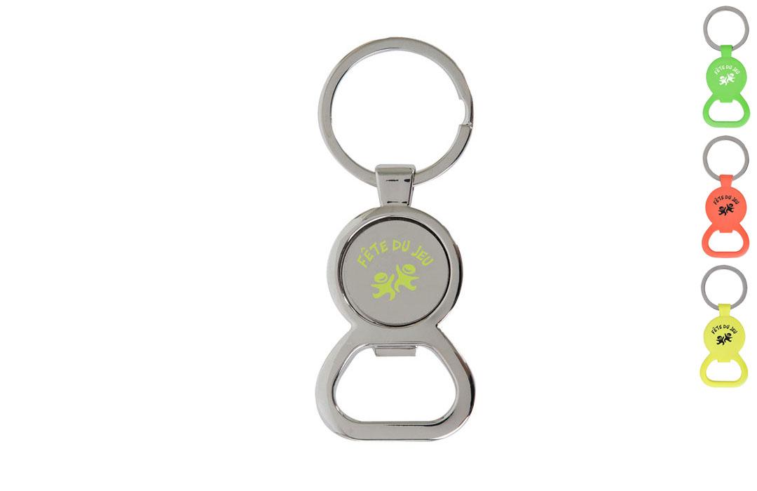 Porte clés décapsuleur avec jeton de caddie en métal à personnaliser 46886c9935a