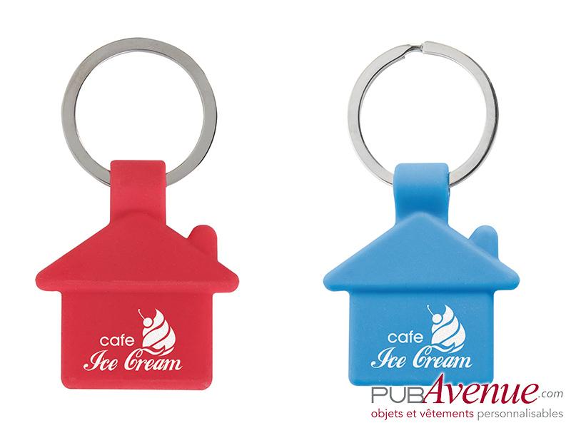 Porte-clés maison personnalisé en express