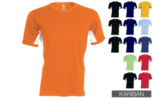 T-shirt bicolore Tiger Kariban 165 gr/m²
