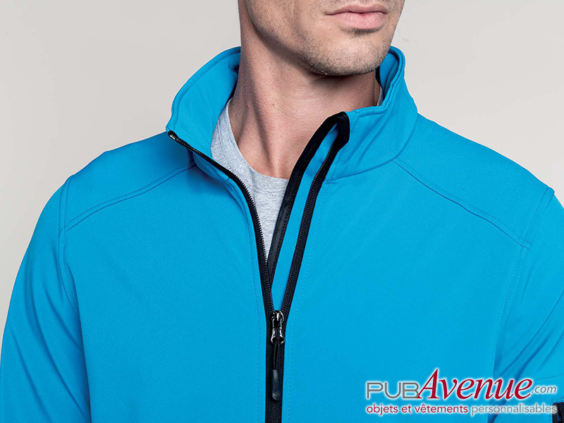 Softshell homme publicitaire 3 couches respirantes