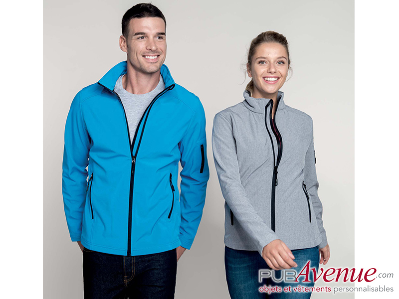 Softshell publicitaire homme 3 couches respirantes