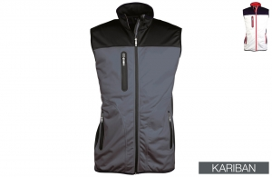 Bodywarmer Softshell imperméable homme Kariban 250 gr/m²
