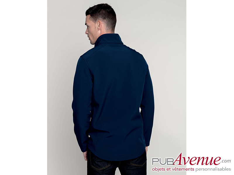 Softshell homme personnalisé 2 couches