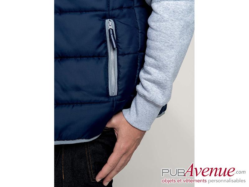 Bodywarmer veste matelassée personnalisable