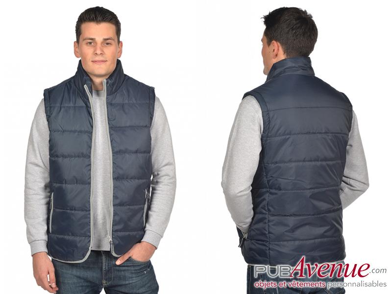 Bodywarmer personnalisé veste matelassée