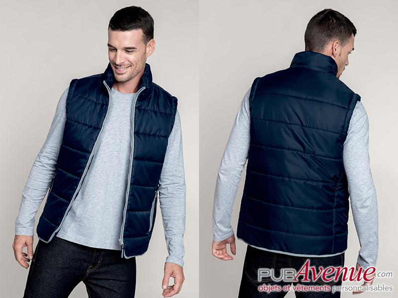 Bodywarmer personnalisable veste matelassée