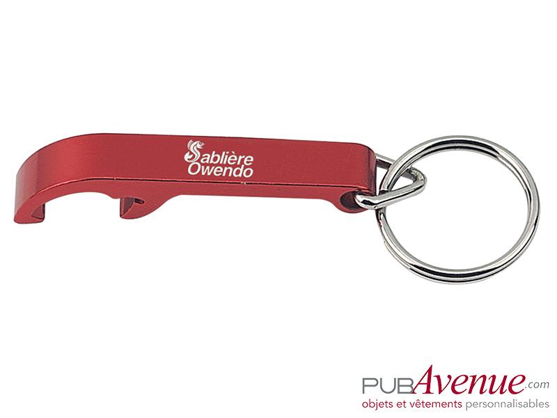 Porte-clés décapsuleur personnalisé en express