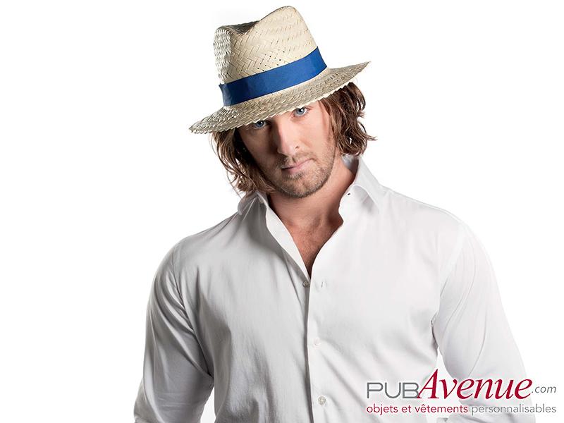 Chapeau panama personnalisable en express