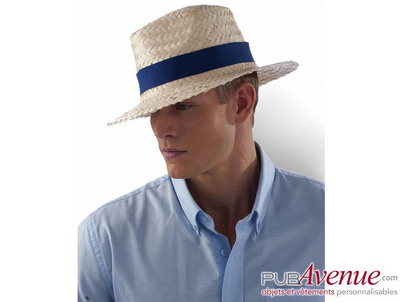 Chapeau panama personnalisé en express