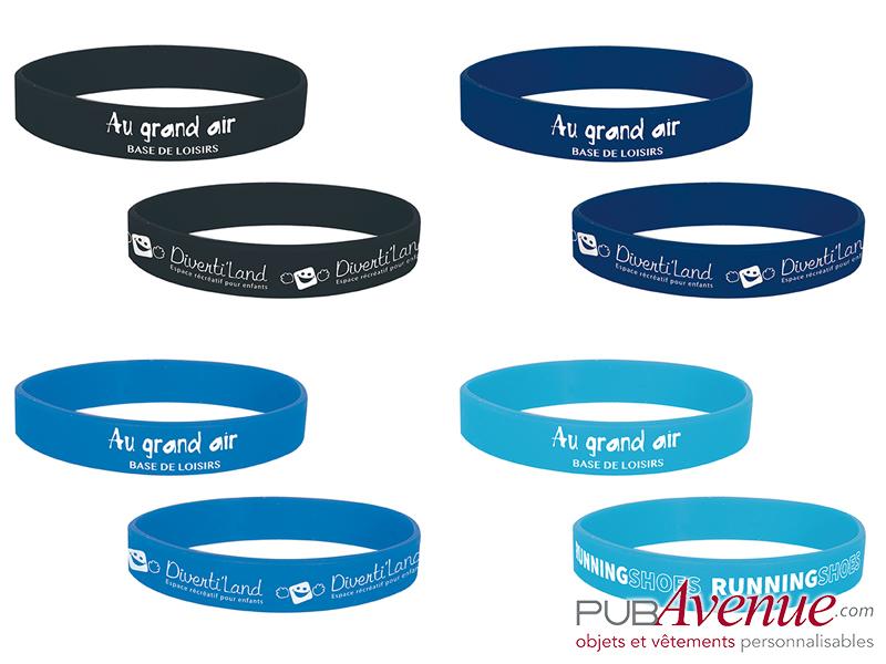 Bracelet silicone personnalisable en express