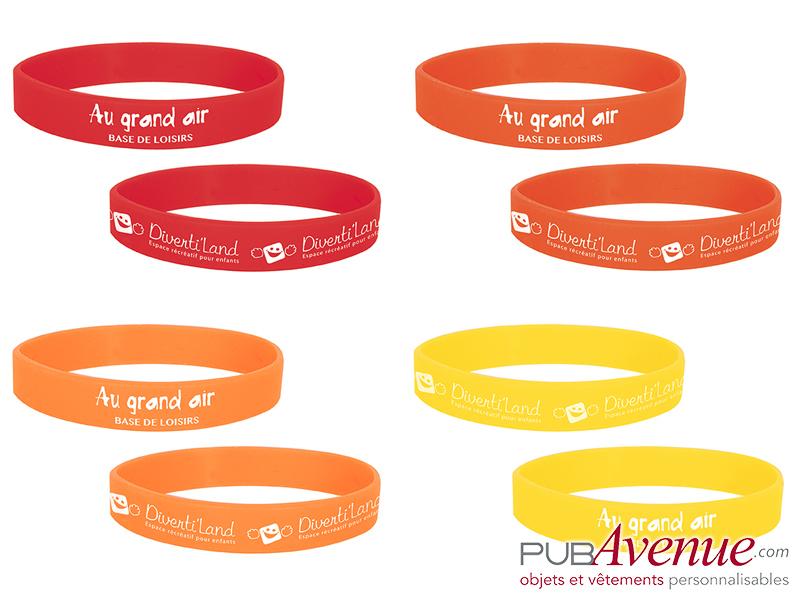 Bracelet silicone publicitaire en express