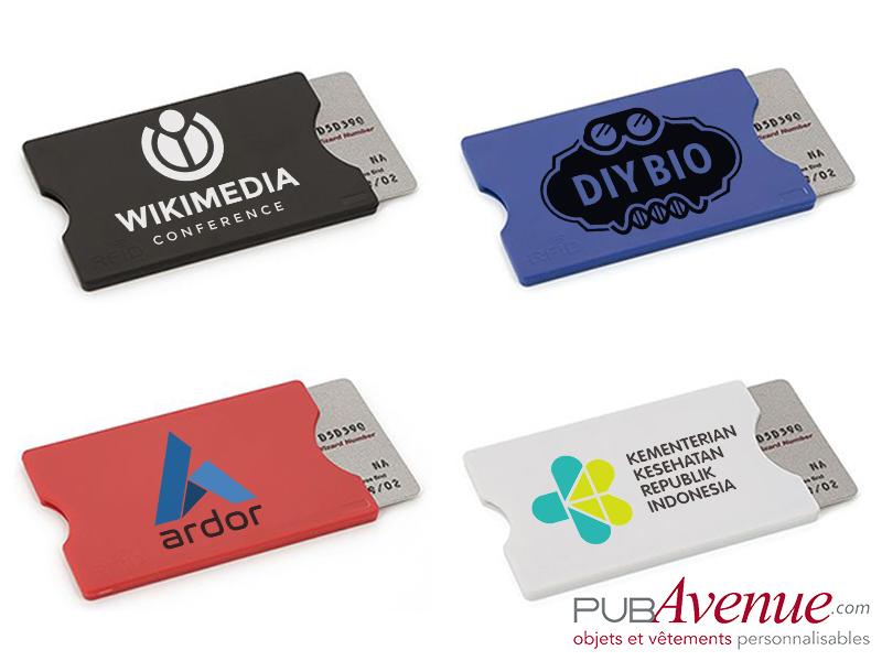 Etui carte de crédit personnalisable en express
