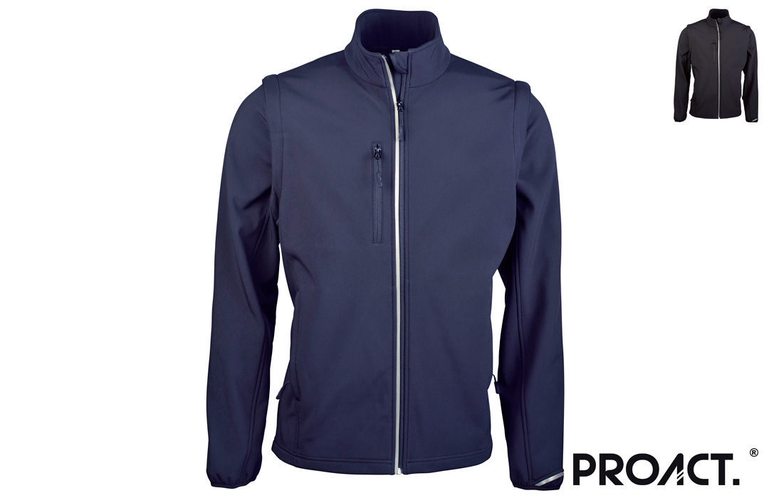 Veste softshell manches amovibles ProAct 300 gr/m²