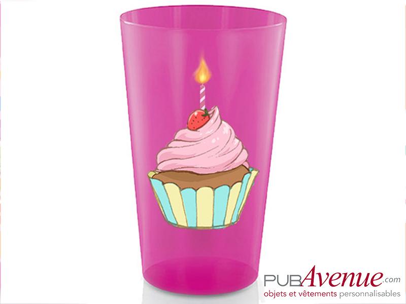 Gobelet réutilisable personnalisé anniversaire