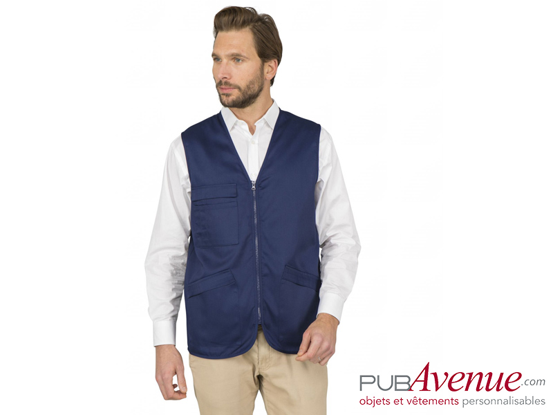 Bodywarmer multipoches personnalisable