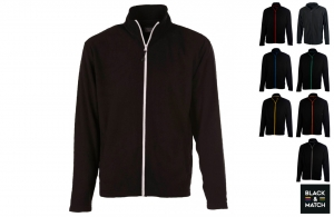 Veste micro polaire black & match personnalisable
