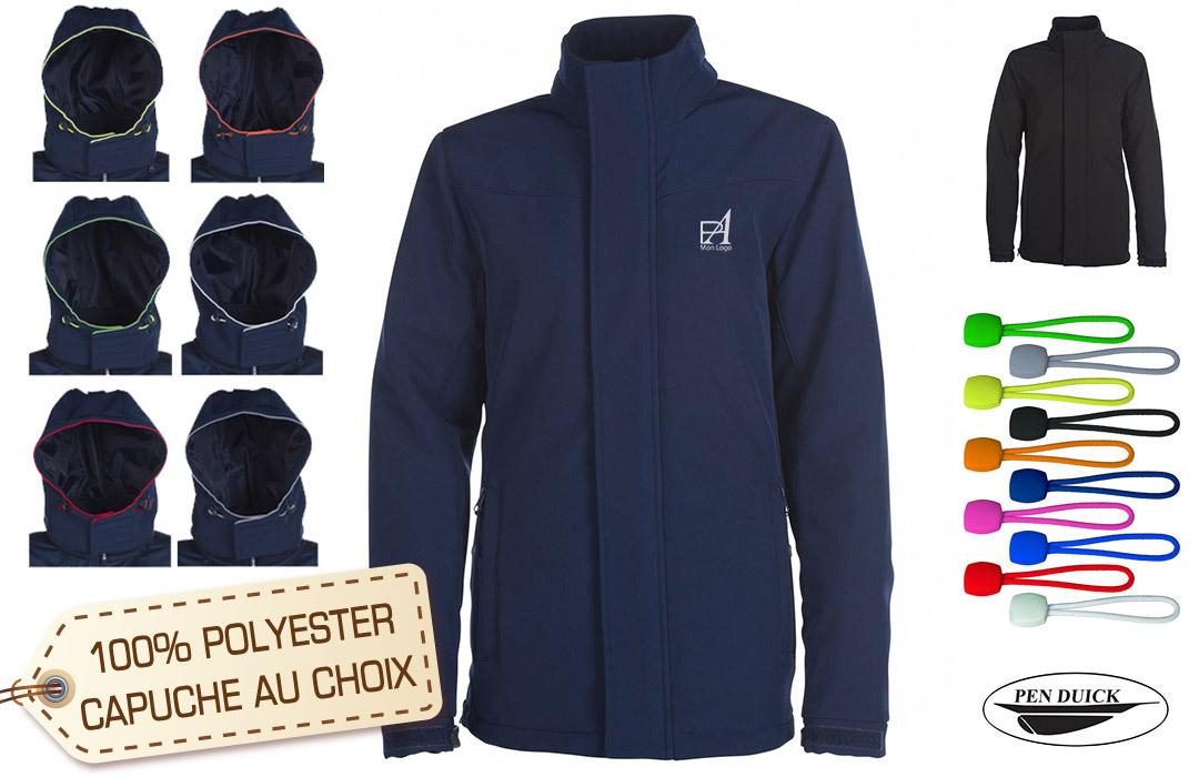 Softshell Homme Publicitaire Capuche Personnalisable Veste Fourrure 0FyO4yacp1