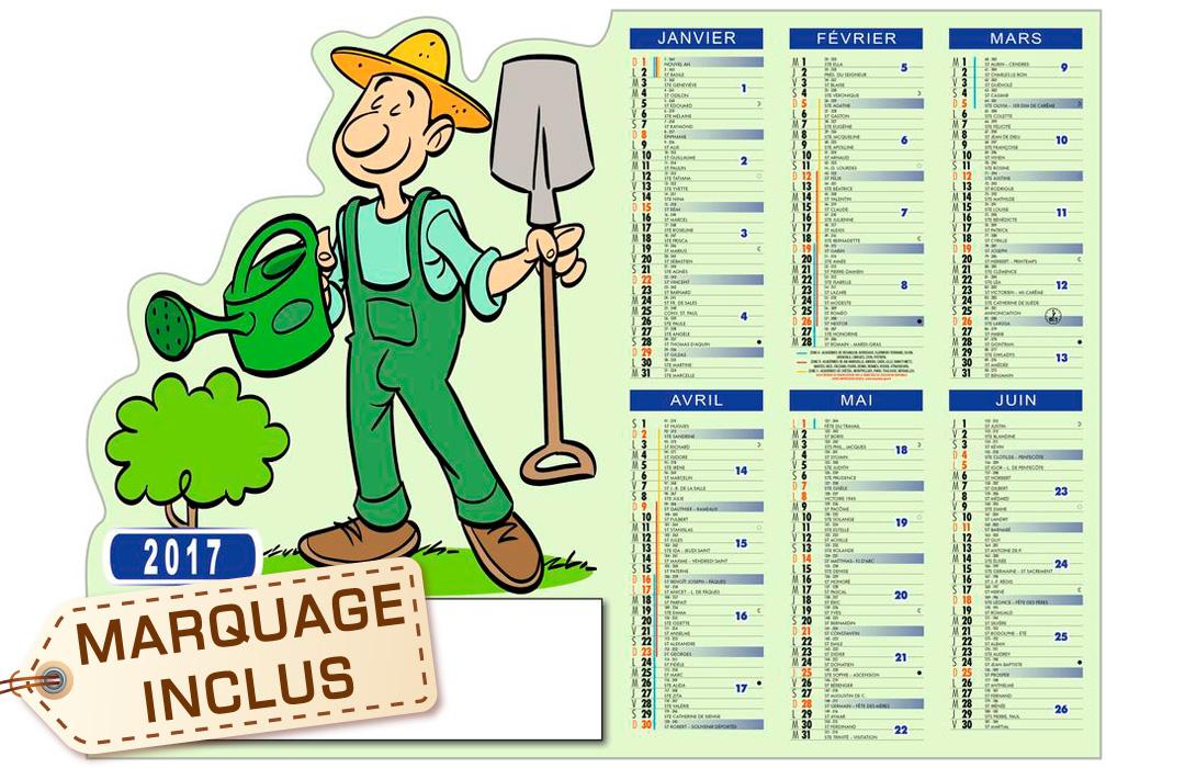 Calendrier pro jardinier avec votre publicit for Jardinier en ligne