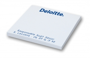 Bloc note adhesif personnalisé post-it 75 x 75 sans couverture