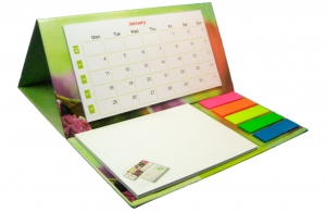 Set publicitaire personnalisable calendrier, mémo, post-it
