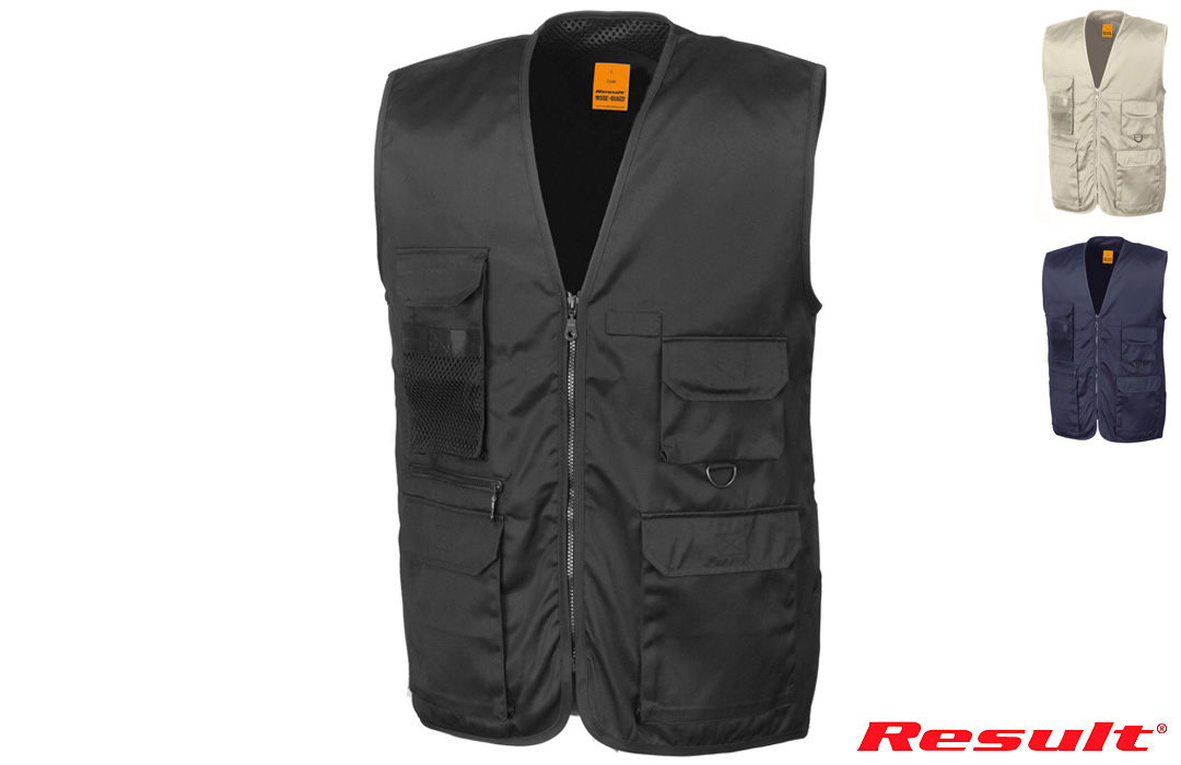 Gilet reporter multi-poches Result 220 gr/m²