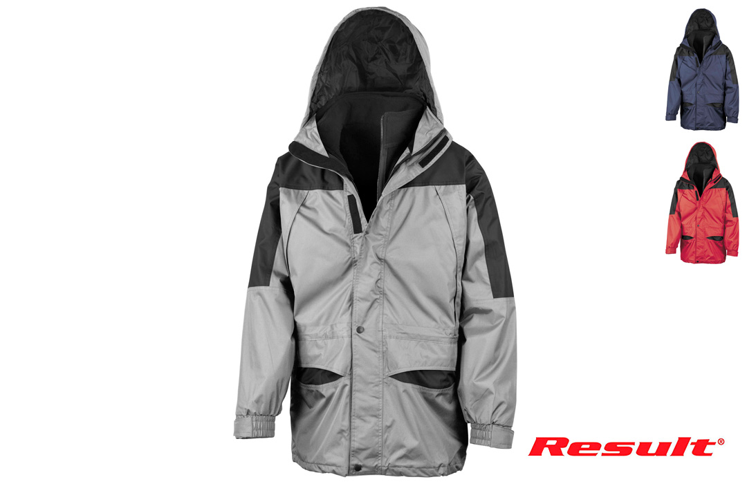 Parka bicolore imperméable polaire 3 en 1 Result