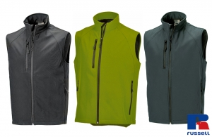 Gilet sans manche Softshell homme Russell 340 gr/m²