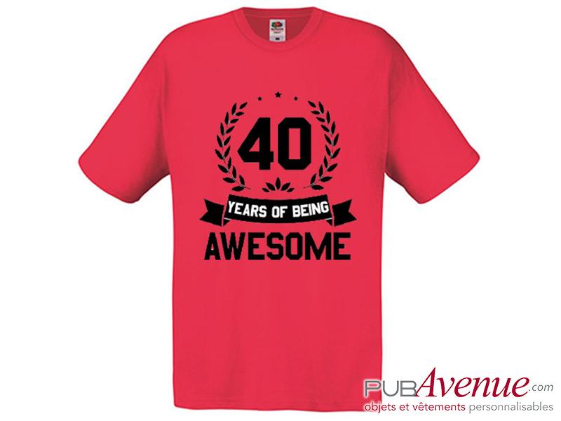 Tee shirt personnalisé anniversaire