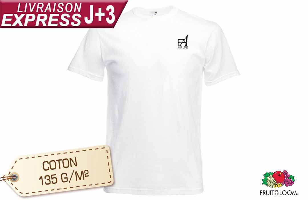 Tee-shirt publicitaire personnalisable flocage express