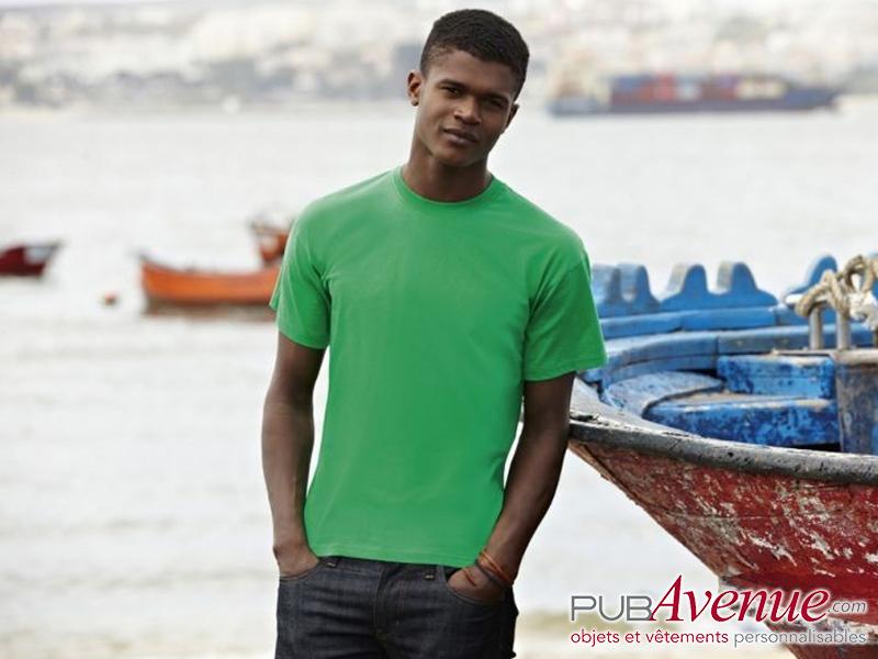 Tee-shirt couleur pas cher express personnalisé
