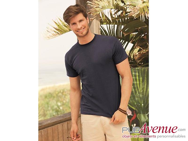 Tee-shirt couleur pas cher express personnalisable
