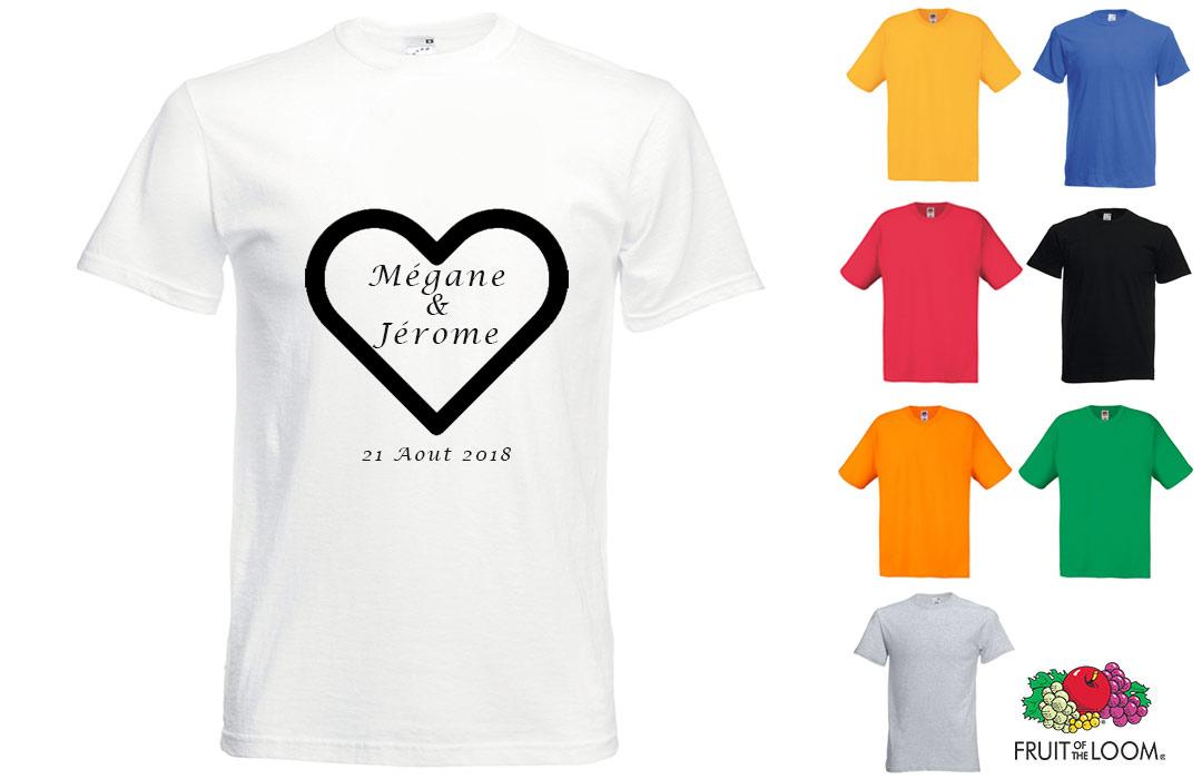 Tee shirt EVJF personnalisé mariage pas cher