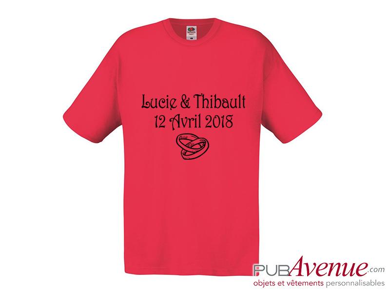 Tee shirt EVJF mariage personnalisé