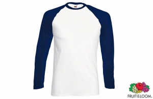 Tee-shirt Baseball manches longues Fruit of the Loom 165 gr/m²