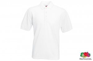 Polo piqué blanc Fruit of the Loom 180 gr/m²