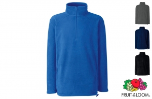 Sweat-shirt personnalisable promotionnel polaire col zippé Fruit of the Loom