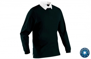 Polo Rugby col blanc homme Starworld 290 gr/m²