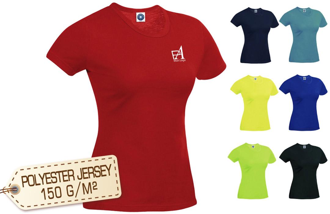 693e5c6840c0a Tee shirt sport respirant publicitaire personnalisé femme pas cher