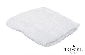 Serviette de toilette blanche Tower City 50x90 cm personnalisable en broderie