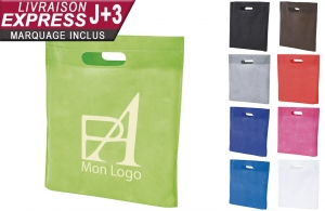 Sac shopping non-tissé personnalisable en express