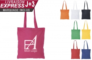 Tote bag coton personnalisable en express