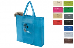Sac shopping pliable fermeture scratch